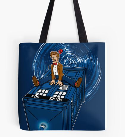 How I learned to love the Tardis. Tote Bag