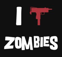 I Shoot Zombies (wht) by kayve