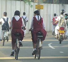 Cyclists, Batticaloa, Sri Lanka by Martina Nicolls