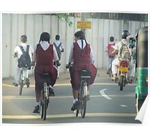 Cyclists, Batticaloa, Sri Lanka Poster