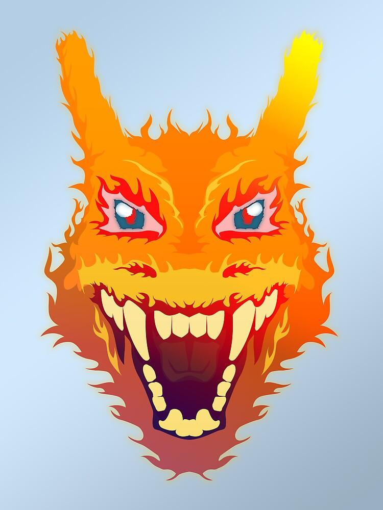 Flaming Charizard by HeadGlitch