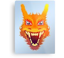 Flaming Charizard Metal Print