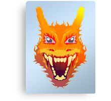 Flaming Charizard Canvas Print