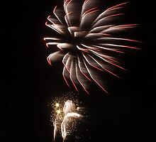 Fireworks over North Wales by Johindes