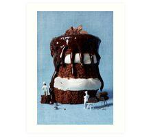 Chocolate monster cake Art Print