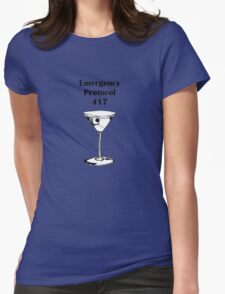 Emergency Protocol 417 Womens Fitted T-Shirt