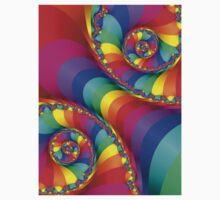 Beautiful Rainbow Spiral Kids Clothes