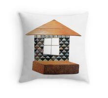 Mosaic house Throw Pillow