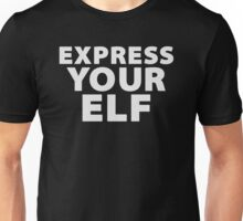 EXPRESS YOUR ELF (White) - Christmas Design Unisex T-Shirt