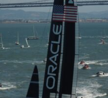 """The USA Oracle wins the America's Cup"" Sticker"