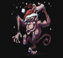 Christmas Monkey Kids Tee