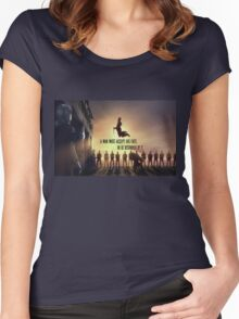Spartacus-quote Women's Fitted Scoop T-Shirt