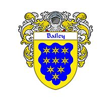 Bailey Coat of Arms/Family Crest Photographic Print