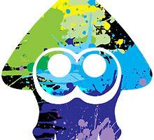 Splatoon multicolor Inkling sticker by MrFoxhead