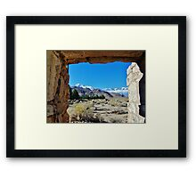 Another Through The Window View Framed Print
