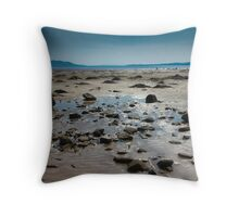 Buncrana Beach, Co Donegal Throw Pillow