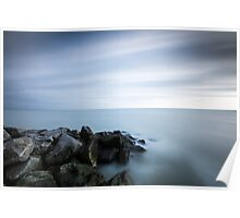 300 second exposure, Eastbourne seafront Poster
