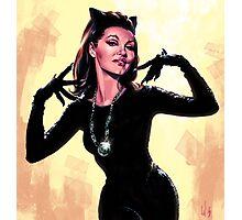 Retro Catwoman Photographic Print