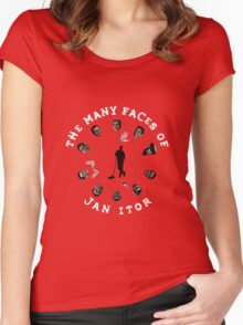 The many faces of Jan Itor Women's Fitted Scoop T-Shirt