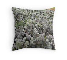 Purple Plants on a Farm Throw Pillow