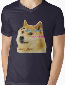 Doge T-Shirt Mens V-Neck T-Shirt