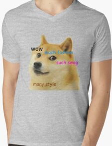 Doge T-Shirt Mens V-Neck T-Shirt