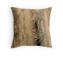 Pounded into the ground Throw Pillow