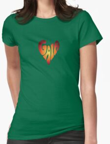 Gaia Heart 6 Womens Fitted T-Shirt