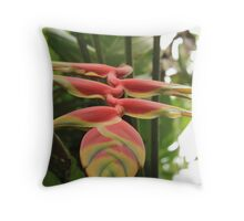 Hanging Heliconia Throw Pillow