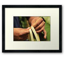 Weaving Hands Framed Print