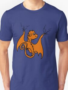 Orange Baby Dragon Rider T-Shirt