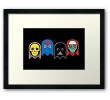 Pac man - Villians Framed Print
