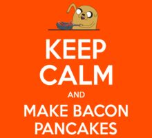 Keep Calm and Make Bacon Pancakes Kids Tee