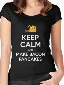Keep Calm and Make Bacon Pancakes Women's Fitted Scoop T-Shirt