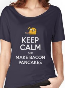 Keep Calm and Make Bacon Pancakes Women's Relaxed Fit T-Shirt