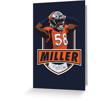 Von Miller - Denver Broncos Greeting Card
