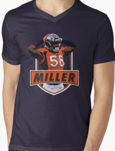 Von Miller - Denver Broncos Mens V-Neck T-Shirt