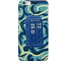 Tardis + Background iPhone Case/Skin