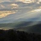 sunbeams on the smokies panoramic by dc witmer