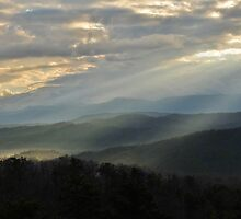 sunbeams on the smokies panoramic by dc witmer