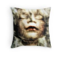 And when death came upon her she welcomed it with a smile Throw Pillow