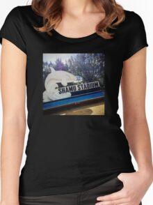 Shamu Stadium Women's Fitted Scoop T-Shirt