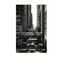 Chicago Street and The Loop Art Print