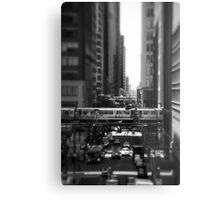 Chicago Street and The Loop Metal Print