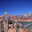 Red Rock - Blue Sky by Adam  Davey