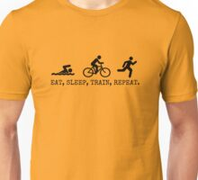 Eat, Sleep, Train, Repeat. Unisex T-Shirt