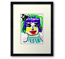 Doodle Face #1 Framed Print