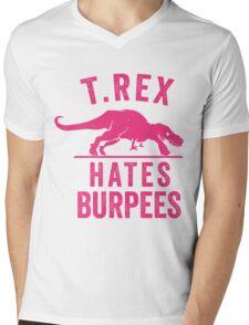 T Rex Hates Burpees Mens V-Neck T-Shirt