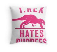 T Rex Hates Burpees Throw Pillow