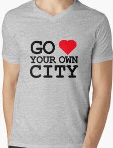 Go heart your own city Mens V-Neck T-Shirt